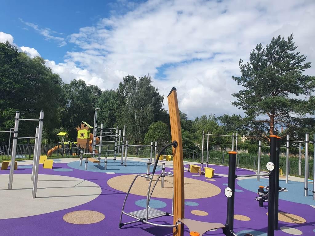 Проект, реализованный Reaton: детская игровая площадка в Яунмарупе